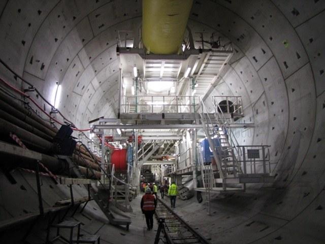 Wydrążona już pierwsza nitka tunelu /Kuba Kaługa /RMF FM