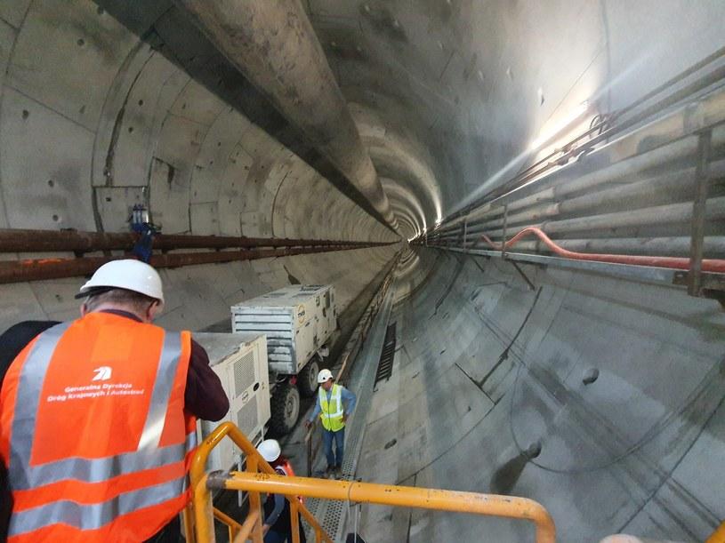 Wydrążony tunel w Świnoujściu /GDDKiA