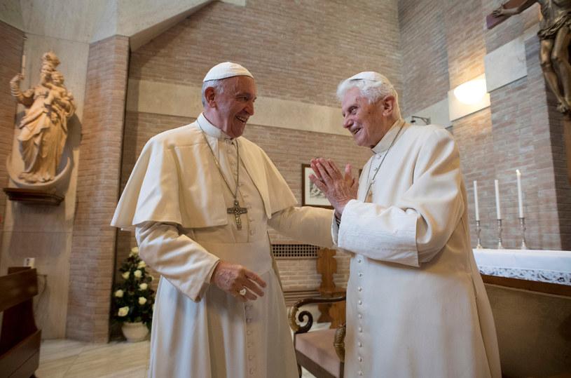 Wyjątkowe spotkanie papieży /Agencja FORUM