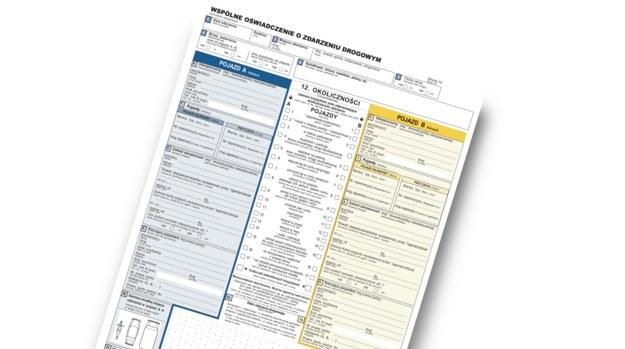 Wyjeżdżając za granicę warto zabrać ze sobą druk oświadczenia o kolizji. /Motor
