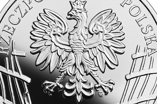 """Wyklęci przez komunistów żołnierze niezłomni - August Emil Fieldorf """"Nil"""", 10 zł, detal awersu /NBP"""
