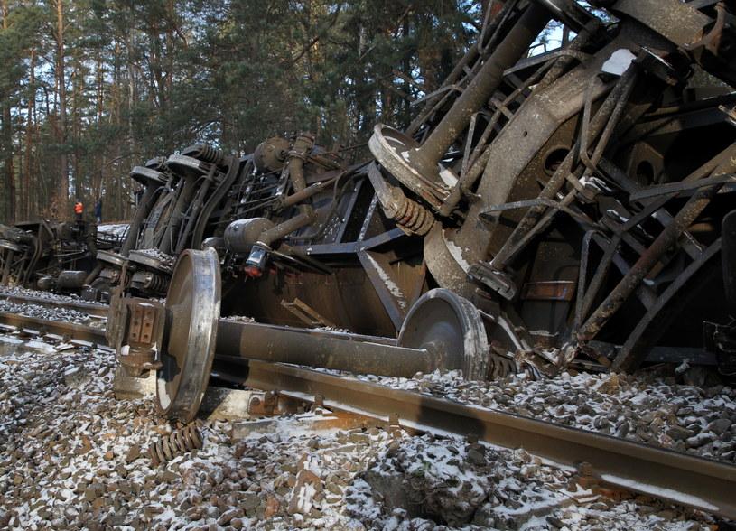 Wykoleił się pociąg towarowy /Tomasz Waszczuk /PAP