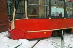 Wykolejony tramwaj w Sosnowcu