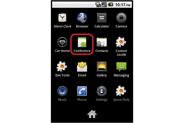 """Wykorzystany w ataku trojan zainstalowany na smartfonie z Androidem udaje aplikację o nazwie """"Conference"""" /materiały prasowe"""