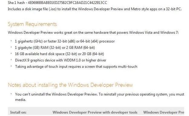 Wymagania nowego Windowsa (Fot. Microsoft.com) /vbeta