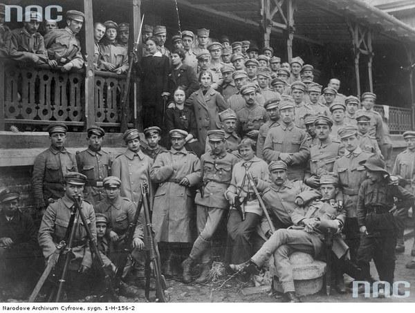 Oddziały Strzelców w Oleandrach w Krakowie, 1914