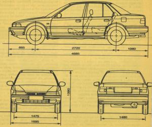 Wymiary zewnętrzne samochodu /Motor