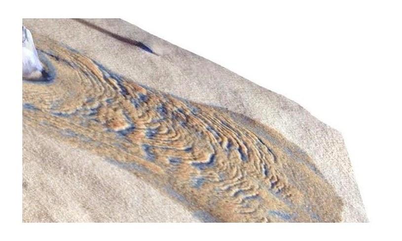 Wynik eksperymentu, w którym płynąca wrząca woda wywiera wpływ na otaczające podłoże /materiały prasowe