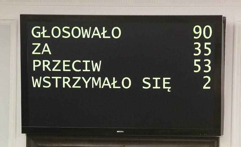 Wynik głosowania /Tomasz Gzell /PAP