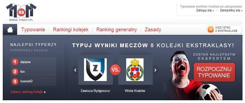 Wynik meczu Zawisza - Wisła i innych spotkań T-Mobile Ekstraklasy możesz za darmo typować w 11na11.pl! /INTERIA.PL