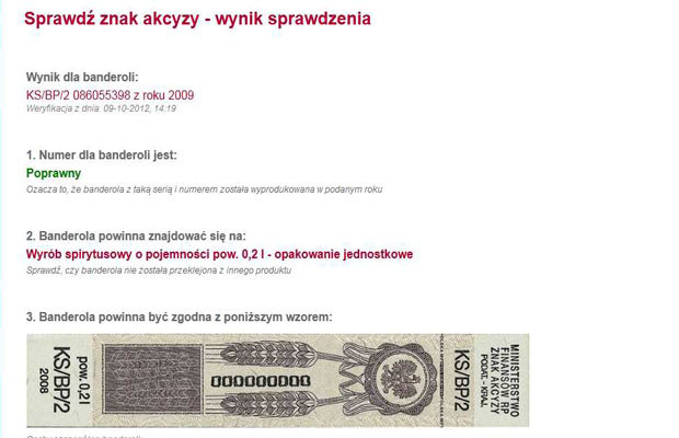 Wynik sprawdzania /INTERIA.PL