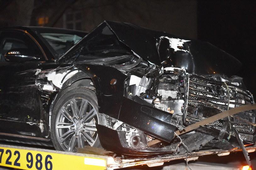 Wypadek Audi A8 z Beatą Szydło /Andrzej Grygiel /PAP