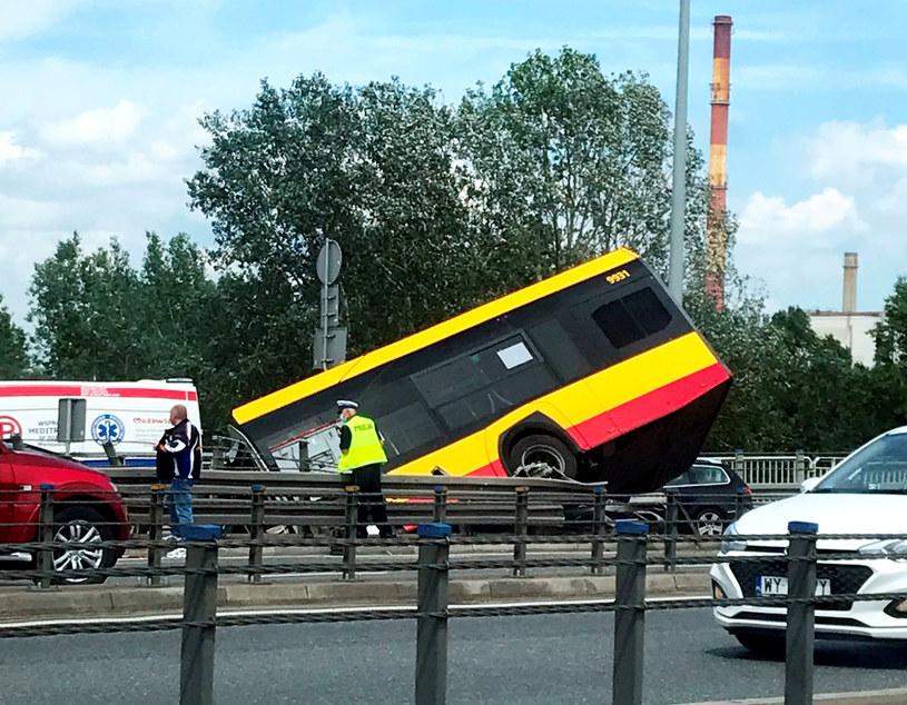 Wypadek autobusu komunikacji miejskiej w Warszawie /Aneta Kwiatkowska /East News
