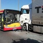 Wypadek autobusu miejskiego w Grudziądzu. Ranne są dzieci