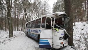 Wypadek autobusu. Pięć osób zostało rannych