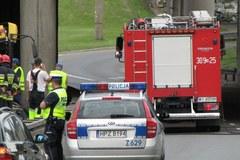 Wypadek autobusu w centrum Warszawy