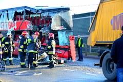 Wypadek autobusu w Jadownikach