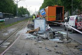 Wypadek autobusu w Szczecinie