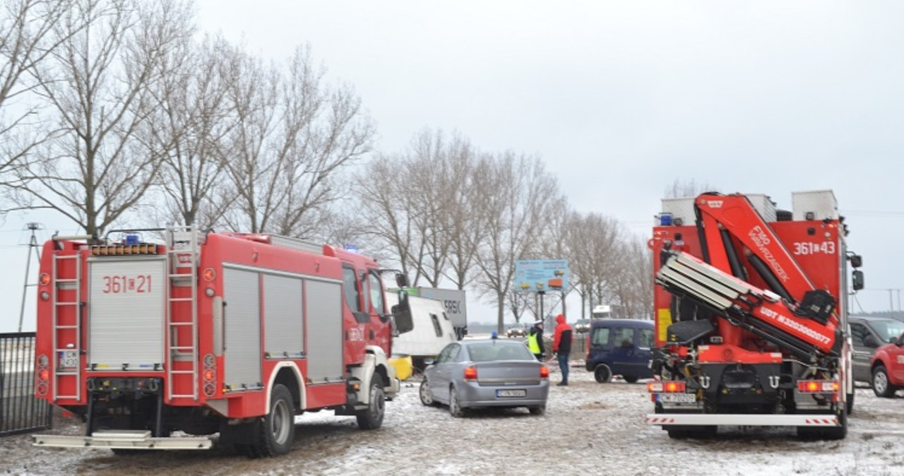 Wypadek autobusu z kibicami Lechii Gdańsk