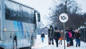 Wypadek autokaru przewożącego dzieci na zimowisku