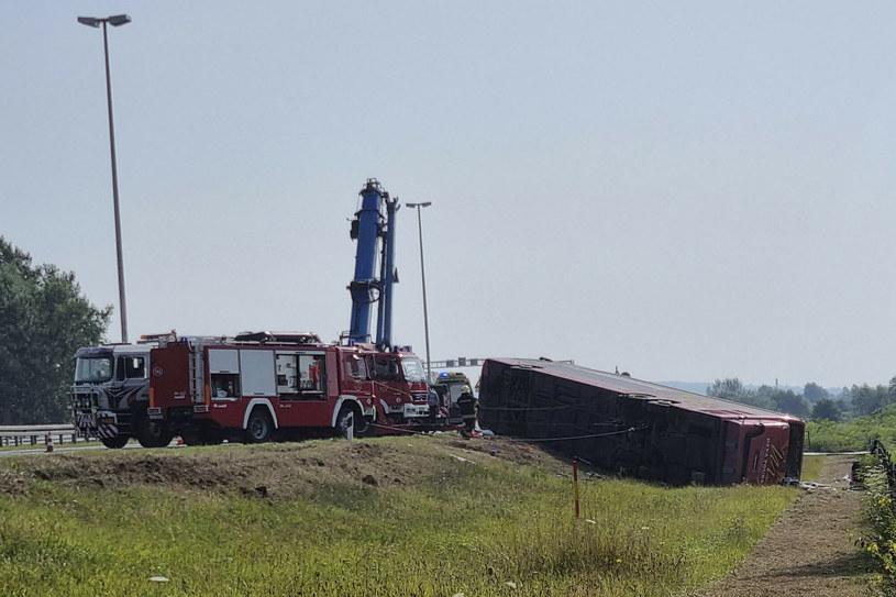Wypadek autokaru w Chorwacji /SBONLINE/Associated Press /East News