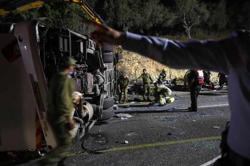 Wypadek autokaru w Izraelu /JALAA MAREY /AFP