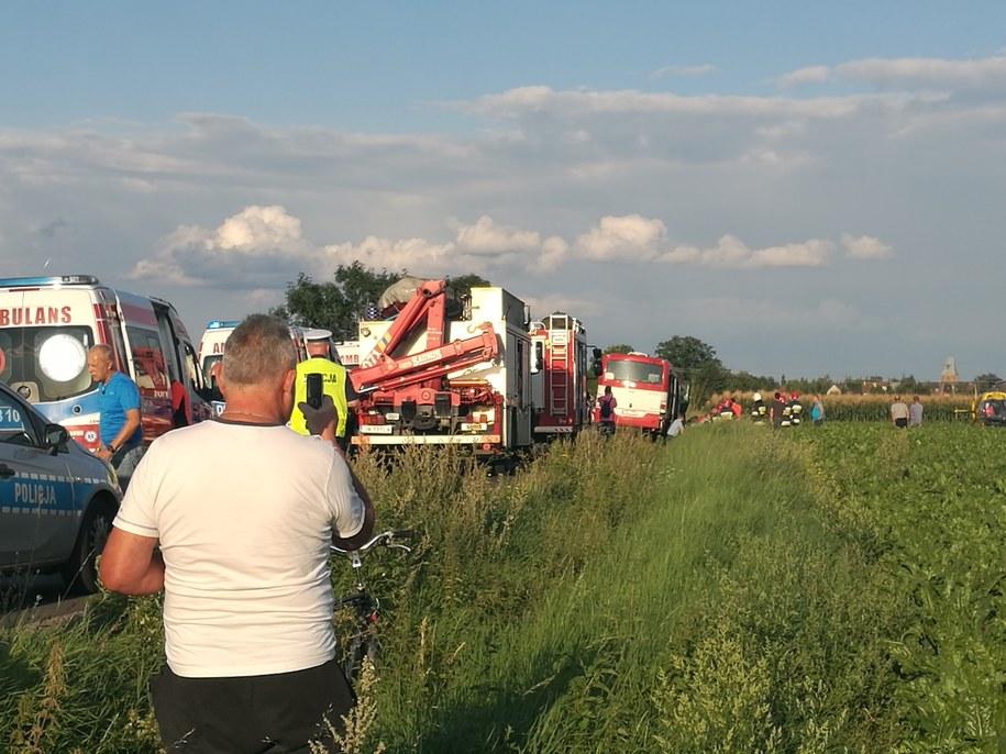 Wypadek autokaru w Smardzowie /Gorąca Linia RMF FM
