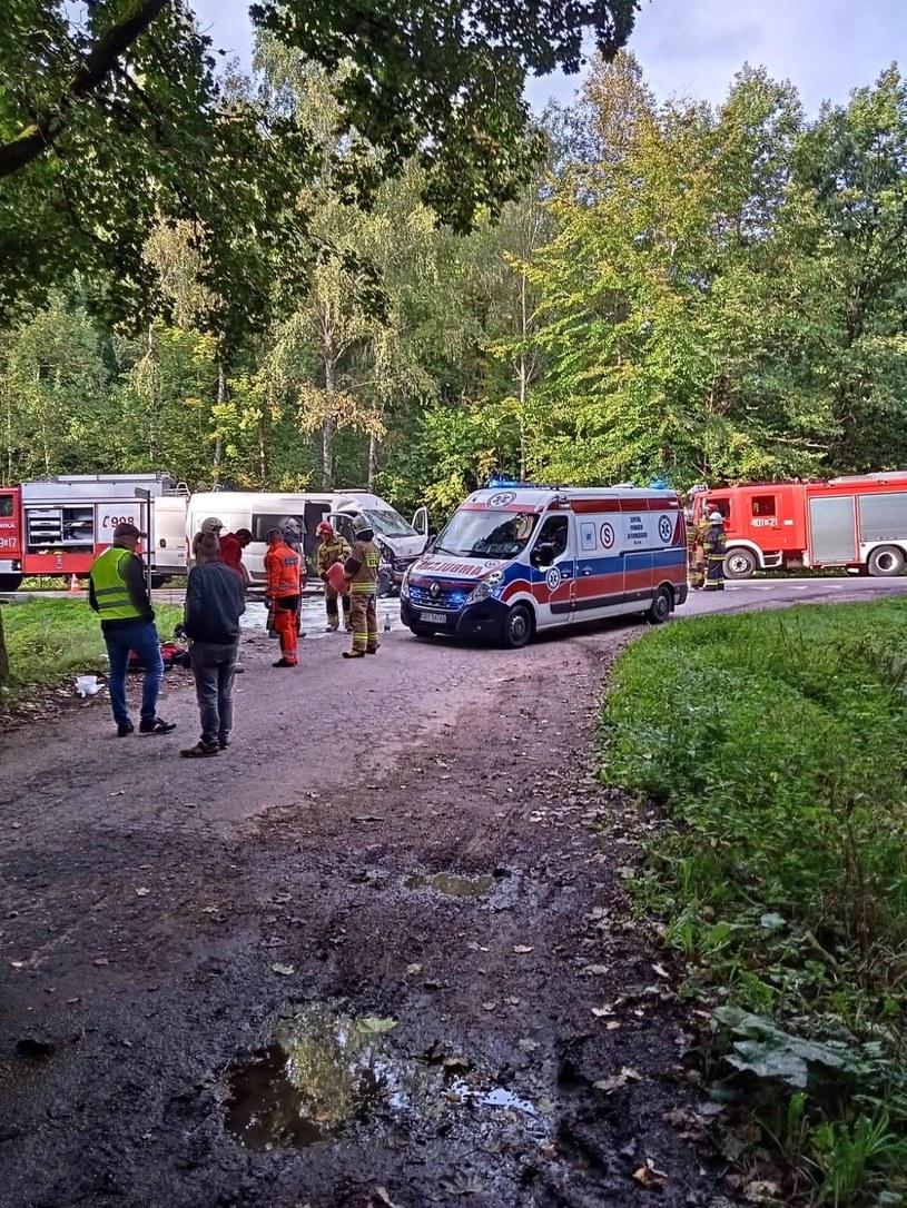 Wypadek autokaru z udziałem busa /KW PSP Gdańsk /materiały prasowe