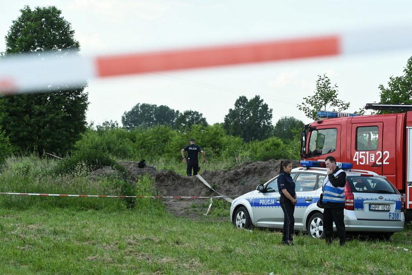 Wypadek awionetki na lądowisku dla samolotów rekreacyjnych w Bobrownikach /Grzegorz Michałowski   /PAP