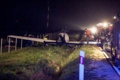 Wypadek awionetki w Krasocinie