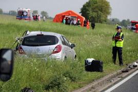 Wypadek drogowy w Żabowie