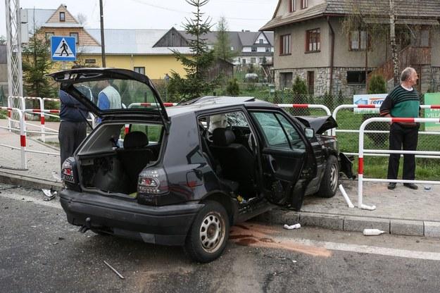 Wypadek koło Nowego Targu /Michał Adamowski /Reporter
