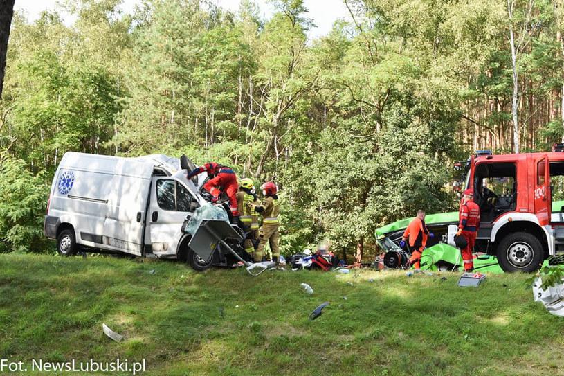 Wypadek koło Zielonej Góry /NewsLubuski /Archiwum autora