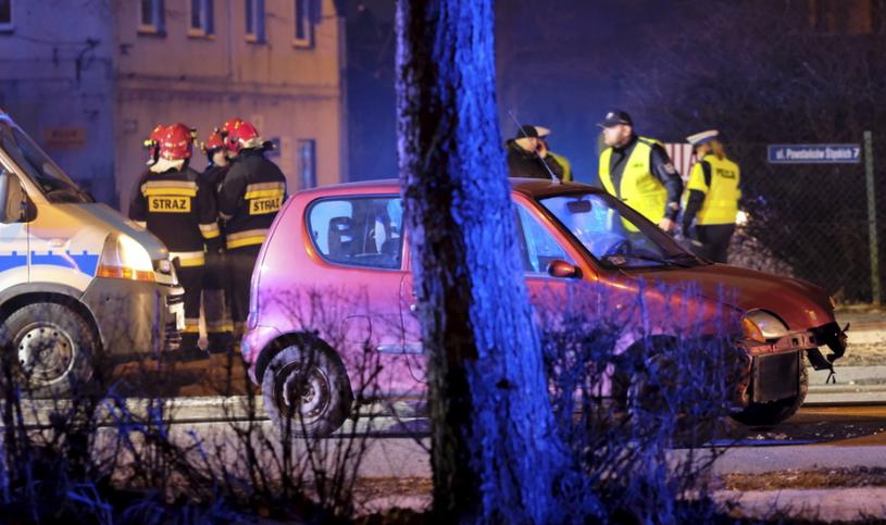 Wypadek kolumny rządowej /Fot. Andrzej Grygiel /PAP