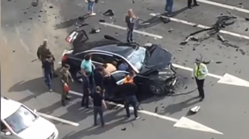 Wypadek limuzyny Putina. Nie żyje kierowca /YouTube