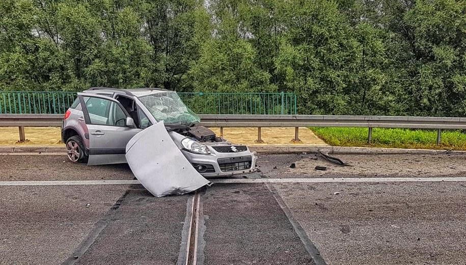 Wypadek na A4 /Policja