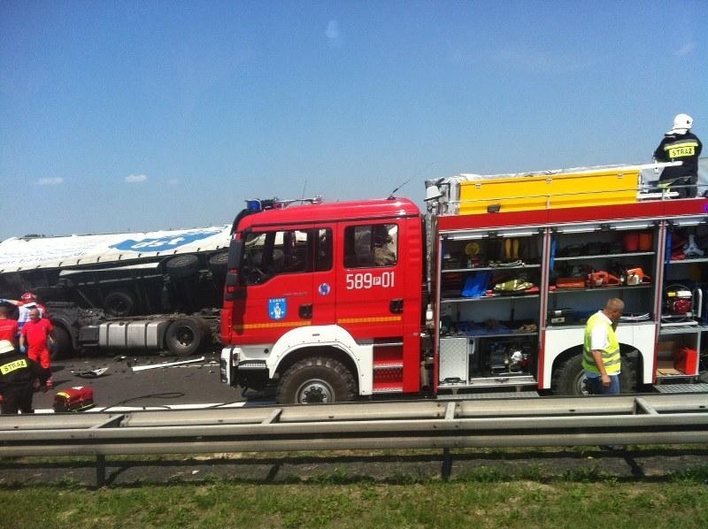 Wypadek na autostradzie A2 /Kazimierz, Gorąca Linia /RMF FM
