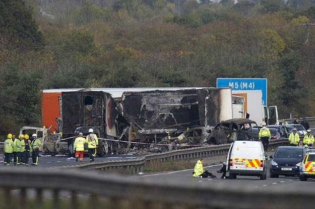 Wypadek na autostradzie M5 /AFP