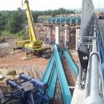 Wypadek na budowie drogi S7. Źle montowali wiadukty