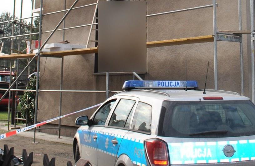Wypadek na budowie w Orzeszu /Policja