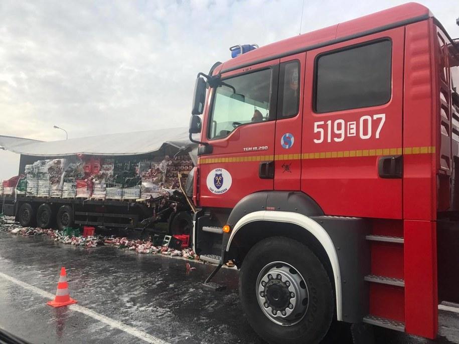 Wypadek na DK1. Zdjęcie z miejsca zdarzenia /Katarzyna  /Gorąca Linia RMF FM