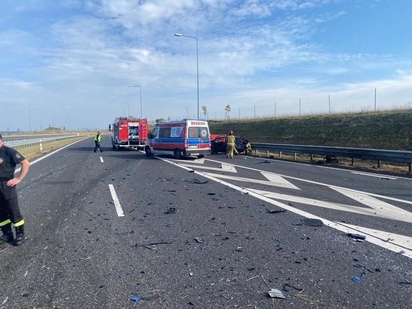 Wypadek na drodze S51 /KMP Olsztyn /materiały prasowe