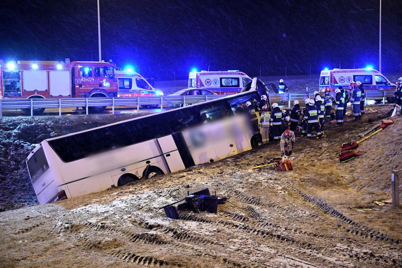 Wypadek na podkarpackim odcinku autostrady A4 /Darek Delmanowicz /PAP