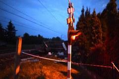 Wypadek na przejeździe kolejowym w Milejowie