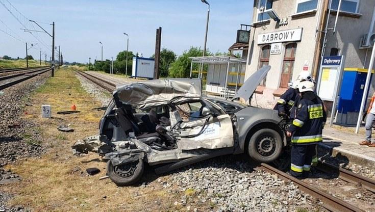 Wypadek na przejeździe kolejowym /