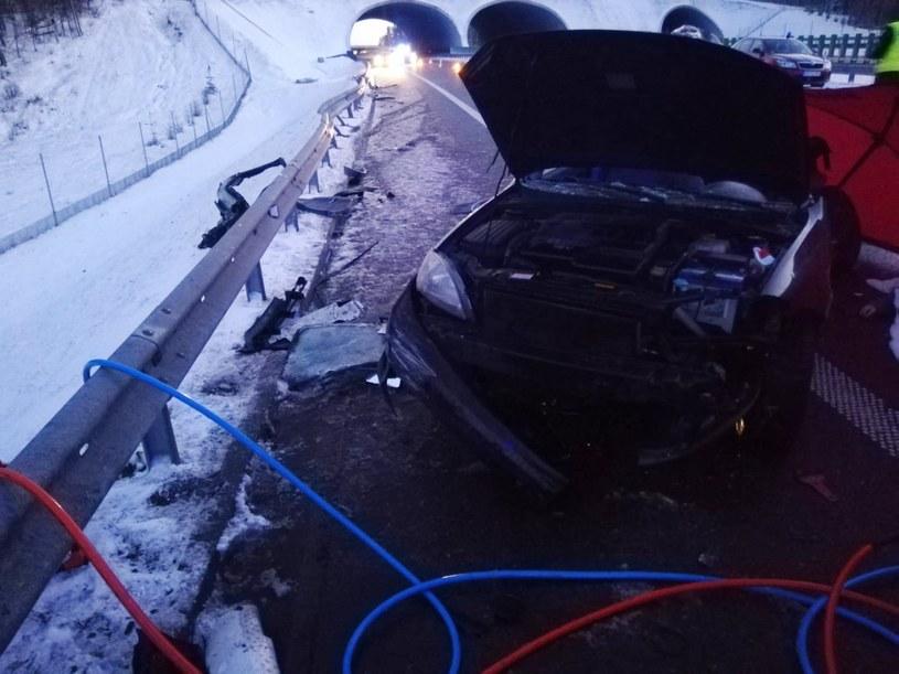 Wypadek pod Olsztynem /KMP Olsztyn /Policja
