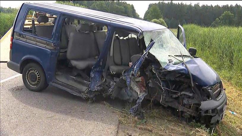 wypadek pod Radomskiem /Polsat News /Polsat News