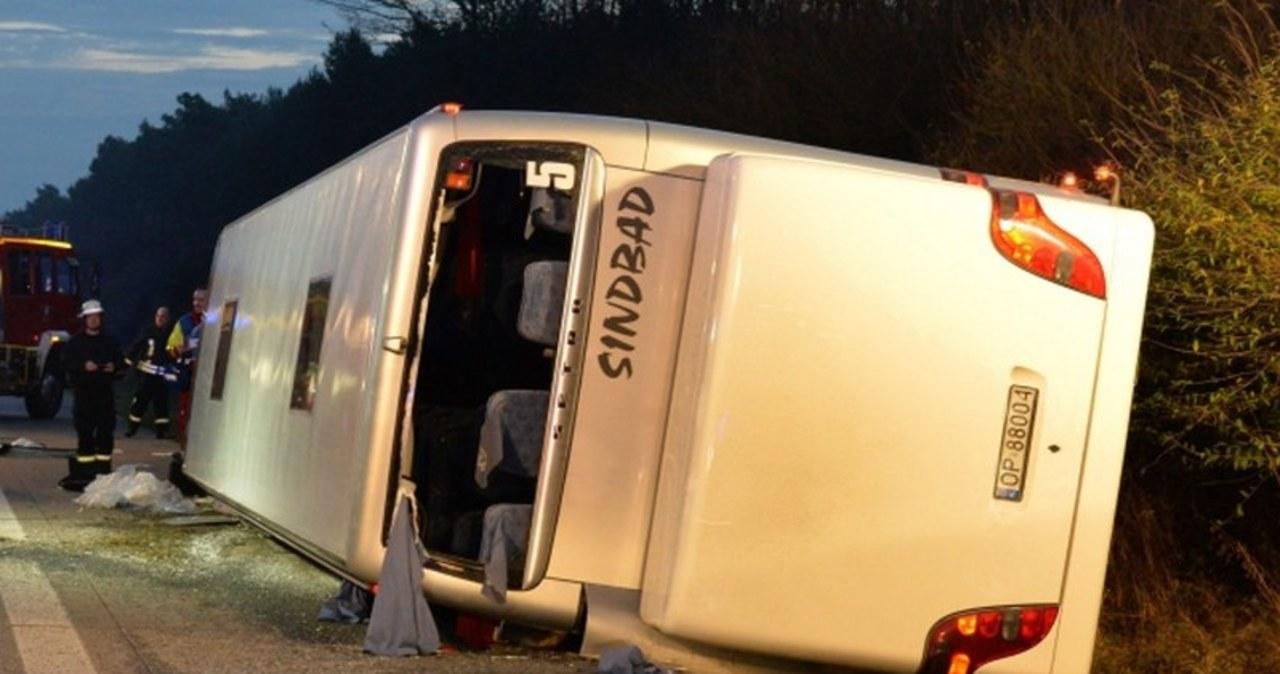 Wypadek polskiego autokaru na niemieckiej autostradzie