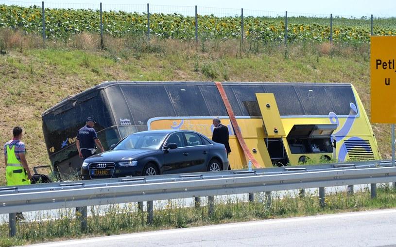 Wypadek polskiego autokaru w Serbii /OTOS ANDRAS /PAP/EPA