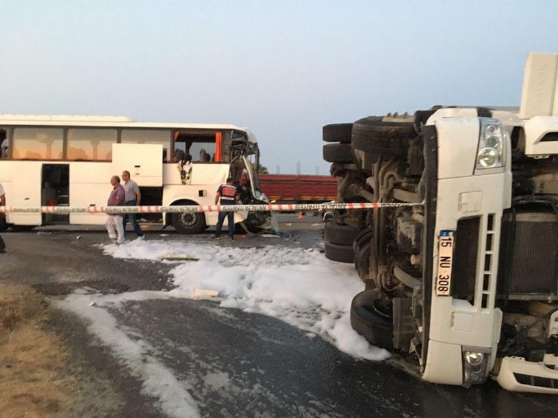 Wypadek polskiego autokaru w Turcji /PAP/EPA